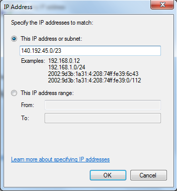 ip address subnet mask